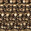 Décor Murale Catacombes Crânes